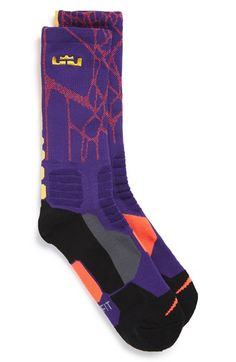 Nike 'LeBron - Hyper Elite' Cushioned Basketball Crew Socks (Big Kid)
