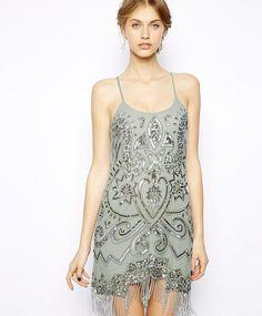 Frock  Frill silver flapper dress (£135)