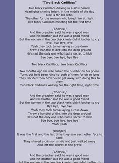 Carrie Underwood - Two Black Cadillacs Lyrics | MetroLyrics