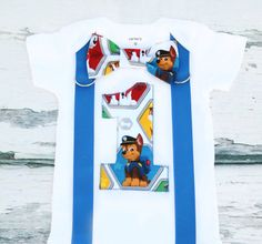 Baby boy Paw Patrol Chase First birthday Cake Smash outfit baby boy paw patrol…