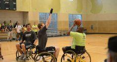Spurs em cadeiras de rodas para deficientes Veteranos Desafio no esporte e na…