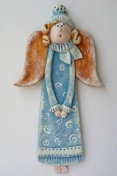 1 million+ Stunning Free Images to Use Anywhere Christmas Craft Fair, Christmas Angels, Fimo Clay, Ceramic Clay, Pottery Angels, Clay Angel, Salt Dough Crafts, Dremel Wood Carving, Ceramic Angels