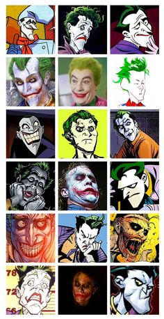 Las mil caras del Joker.