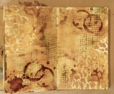 Coffee Art Journal Pages Background