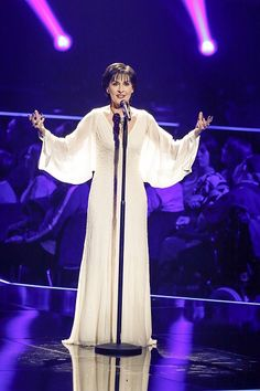 Enya performs 'Echoes in Rain' the Echo Awards on 7 April 2016 in Berlin…