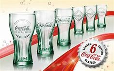 Image result for coca cola character glass