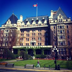 The Empress Hotel in Victoria, BC.  What an amazing place to stay - loved it.