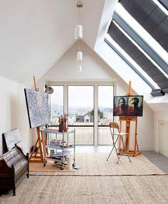 Modern & Bright Home Art Studio Design Ideas for ... | garage studio