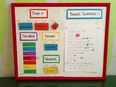 Toddler Preschooler Daily Board