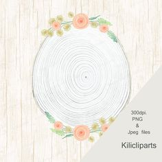 Wedding clipart, wood Wreaths, Watercolor, boho Wreaths, Floral Wreaths, clipart, digital and Watercolor, instant download.