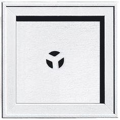 Builders Edge 7.75-In X 7.75-In White Vinyl Universal Mounting Block 1