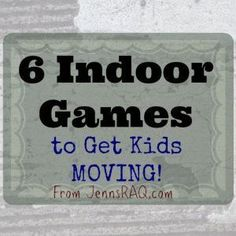 Are you looking for ways to beat the heat of summer or cold of winter when kids are stuck indoors? Check out these 6 Indoor Games to Get Kids MOVING! game, 6 Indoor Games to Get Kids MOVING! Indoor Recess Games, Indoor Group Games, Group Games For Kids, Outdoor Games, Indoor Activities, Physical Activities, Children Games, Movement Activities, Backyard Games