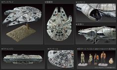 Bandai Star Wars 1/144 Scale Millennium Falcon