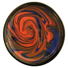 """""""Fashion on a plate"""" very rare Object d'Art in glass by Missoni  Italy  1980"""