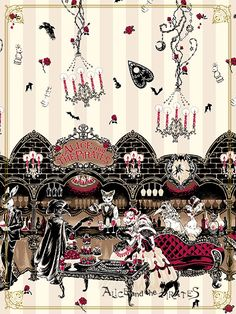 Rosy night's Masquerade柄ジャンパースカートⅠ/Rosy night's Masquerade jumper skirt Ⅰ…