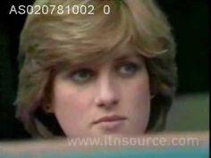 Princess Diana at Wimbledon prior to her wedding