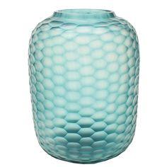 Amara - Bambola Vase - Groß - Transparent/Petrol Jetzt bestellen unter: http://www.woonio.de/produkt/amara-bambola-vase-gross-transparentpetrol/