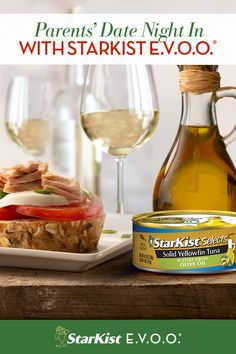 It's safe to say that parents are juggling a lot these days, between work, homeschooling and everyday life. So it's important to take time for yourselves. Enjoy a date night in, with your favorite glass of wine, and pair it with delicious StarKist Selects E.V.O.O. Tuna. Extra Virgin Oil, Yellowfin Tuna, Homeschooling, The Selection, Parents, Easy Meals, Favorite Recipes, Wine, Night