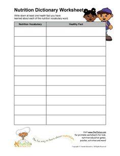 Printable Vocabulary Worksheet Printout Teacher Worksheets, Vocabulary Worksheets, Free Printable Worksheets, Worksheets For Kids, Vocabulary Words, Food Vocabulary, School Worksheets, Free Printables, Nutrition Education
