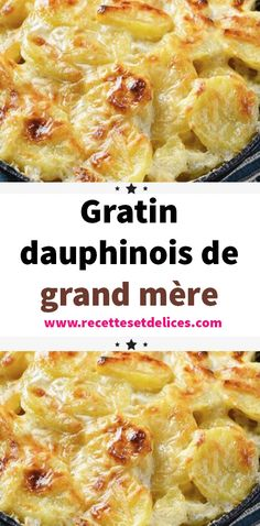 Grandmother's Gratin Dauphinois is The classic family dish The Gratin Dauphinois is an essential traditional French dish that is very popular. Discover an easy and quick recipe to delight the whol Quick Recipes, Vegan Recipes Easy, Italian Recipes, Vegan Breakfast Recipes, Brunch Recipes, French Dishes, Food Hacks, The Best, Macaroni And Cheese
