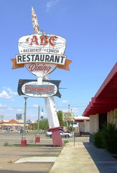 ABC Restaurant-Dining ~ Kingman Arizona. This is a SERIOUSLY cool sign