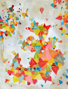 Triangles: by unknown via Amelia's Magazine; not a quilt but it would be a cool quilt design