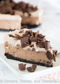 Baileys Chocolate Cheesecake - a rich and creamy chocolate cheesecake ...