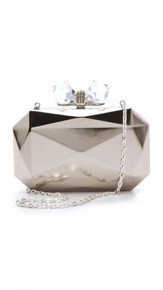 If this were rose gold, with a citrine stone, I would love it. Overture Judith Leiber Danielle Faceted Clutch