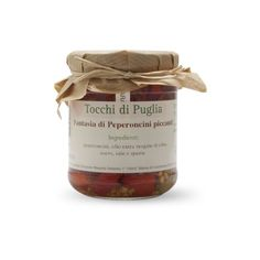 #peperoncini piccanti in #olioextravergineoliva Tocchi di Puglia  #shoponline #products #food #vegetables #oil su www.italyfoodwine.it
