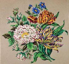 Antique Berlin Woolwork hand-painted chart 19th cent. Hertz & Wegener in Berlin   eBay