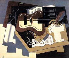 Juan Gris - Guitar with Clarinet [1920]