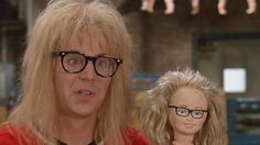 Garth from Wanyes World 80 Tv Shows, Wayne's World, Time Warp, Rock Music, Guys, Party Time, Cow, Movie, Awesome