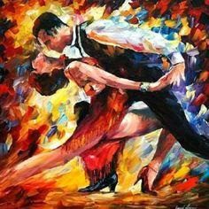 As cores e a energia do tango na tela do israelense Leonid Afremov. O artista usa o cabo do pincel para criar suas obras. @OlhardeMahel #LeonidAfremov #pintura #tango #cor #artista #arte #obradearte #pintor #OlhardeMahel #fpolhares #painting #painter #art #artist #dance #color #artpiece http://ift.tt/2i1vMvm