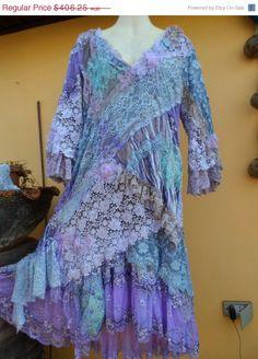 OFF vintage inspired shabby bohemian gypsy dress .medium to bust. Bohemian Bride, Bohemian Gypsy, Gypsy Style, Lace Wedding Dress, Bridal Lace, Lace Dress, Paisley, Gypsy Dresses, Fantasy Dress