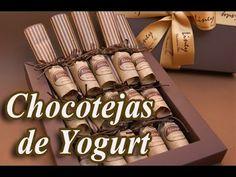 Chocotejas de Yogurt Chocotejas de fresa  bombones de Yogurt