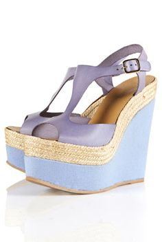 Whamm Espadrille Leather Wedges - Topshop        Price: £65.00