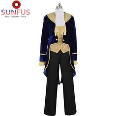 Halloween Beauty and the Beast Prince Tuxedo Movie Cosplay Costume Halloween Wigs, Halloween Movies, Halloween Fancy Dress, Jester Costume, Costume Wigs, Cosplay Costumes, Princess Belle Costume, Beauty And The Beast Costume, Belle Cosplay