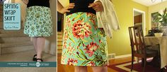 Spring Wrap Skirt, a sewing tutorial from Polka Dot Cottage