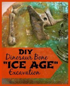 "DIY Dinosaur Bone ""Ice Age"" Excavation - Child Central Station"