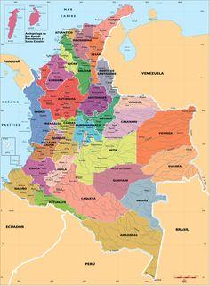 mapa colombia - Pesquisa Google