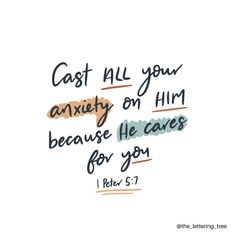 This encouraging Bible verse is a perfect if you are struggling with anxiety or need some peace and reassurance, Hand lettered by The Lettering Tree. Bible Verses About Strength, Bible Encouragement, Love Is Gone, Tough Times, Anxious, Psalms, Hand Lettering, It Cast, Inspirational Quotes