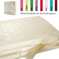 """Hochzeitseinladung """"Elegance"""" mit Satinband in Wunschfarbe - weddix"""