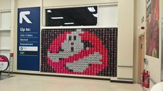 Tesco Stourbridge Ghostbusters Coke Display 27/10/2016  Twitter @Retailbarcode