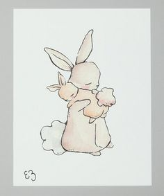 Bunny mamas love their bunny babies as much as I love you :) Evie/mama tattoo?