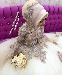 wedding dresses for mothers Muslim Wedding Gown, Wedding Hijab, Pakistani Wedding Dresses, Bridal Dresses, Bridal Hijab, Hijab Bride, Hijab Style Tutorial, Brides And Bridesmaids, Marie