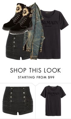 """""""Untitled #1581"""" by palemermaid ❤ liked on Polyvore featuring Pierre Balmain and Balmain"""