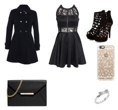 """""""Night out"""" by pawjuliann ❤ liked on Polyvore featuring Miss Selfridge, AX Paris, MICHAEL Michael Kors, Casetify and Kate Spade"""