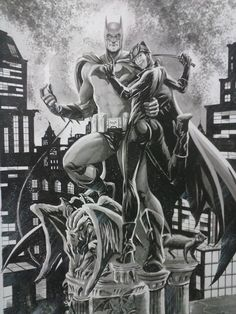 Batman & Catwoman by Edson Novaes