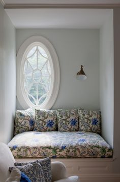 Perfect window reading nook, the best nooks seem to have interesting windows!