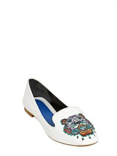 KENZO - 10MM PATENT LEATHER TIGER LOAFERS